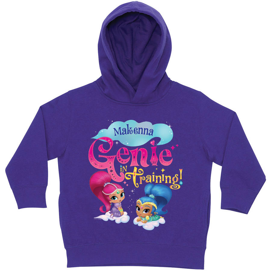 Personalized Shimmer and Shine Genie in Training Purple Toddler Hoodie, Purple