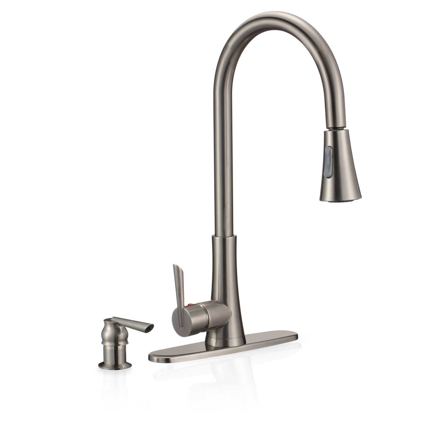freuer bella di fresco collection pull out spray kitchen sink faucet brushed nickel
