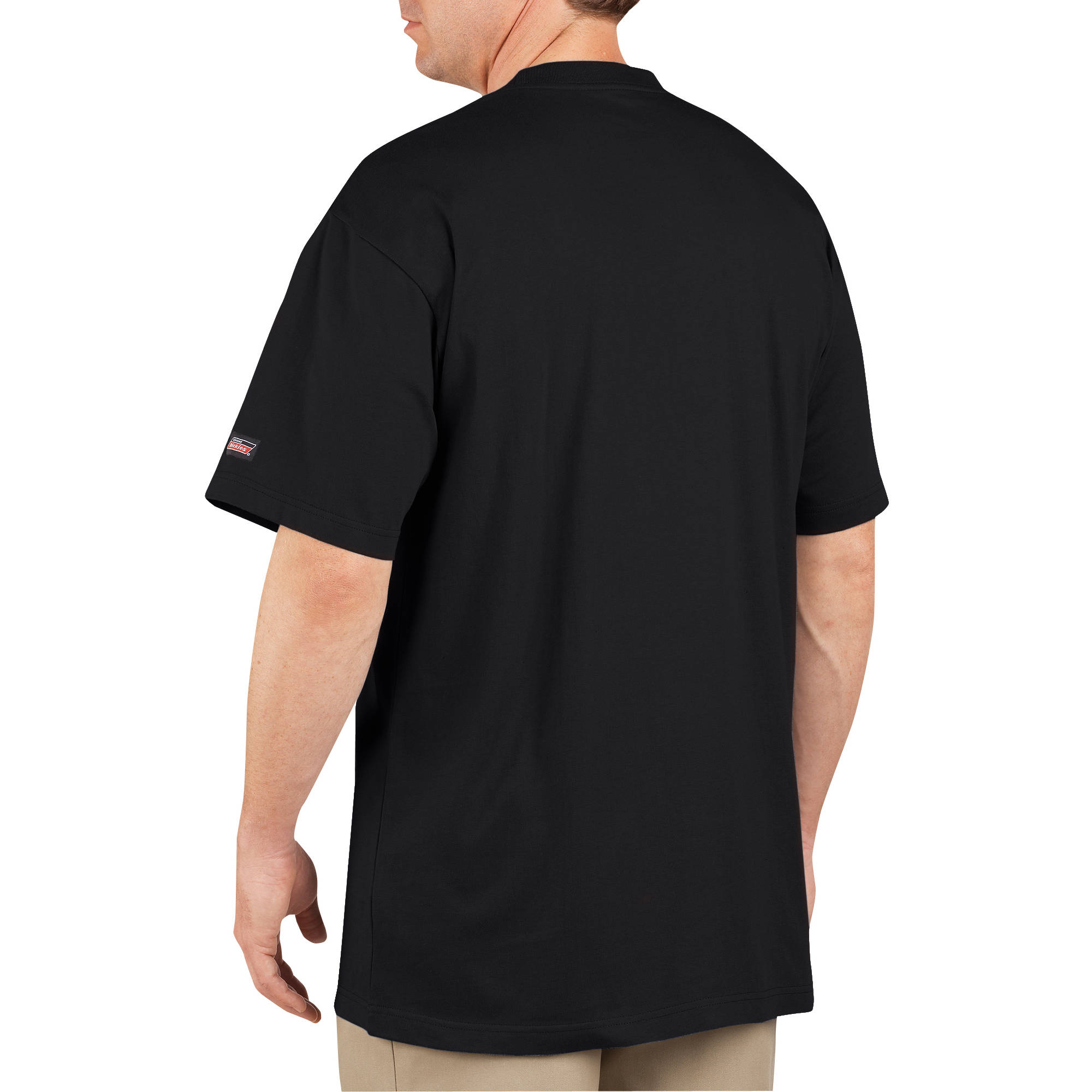 Black t shirt with pocket - Genuine Dickies 407 Heavy Weight Short Sleeve Pocket Tees 2 Pack Walmart Com
