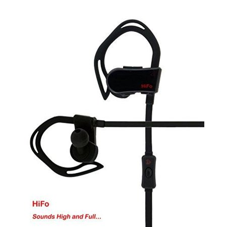 hifo bluetooth earphone - heartbeat sports 100 with sports app, heart rate monitor, pedometer, map/gps tracking, noise cancelation, battery status (black) (Order Status Tracking)