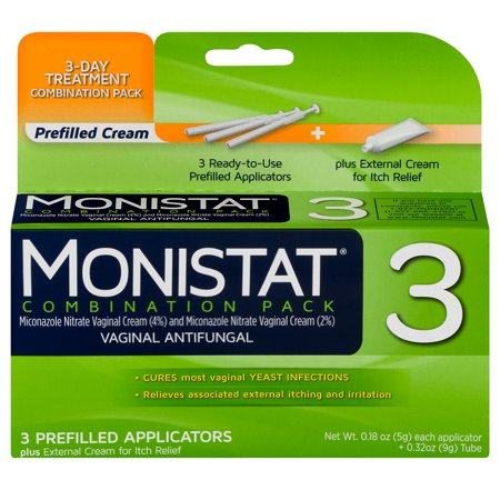 Monistat 3-Day Yeast Infection Treatment, Applicators + Itch