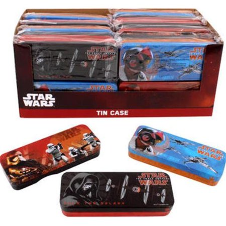 Disney 2133577 Star Wars Episode 7 Tin Pencil Case -  Pack of - Star Wars Pencils