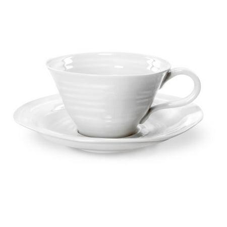 Conran White Teacup (Portmeirion Sophie Conran White Teacup and Saucer, Set of)