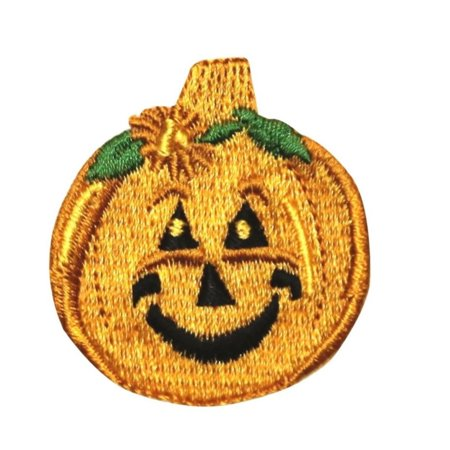 ID 0820 Smile Jack O Lantern Patch Happy Halloween Embroidered Iron On - Jack Happy Halloween