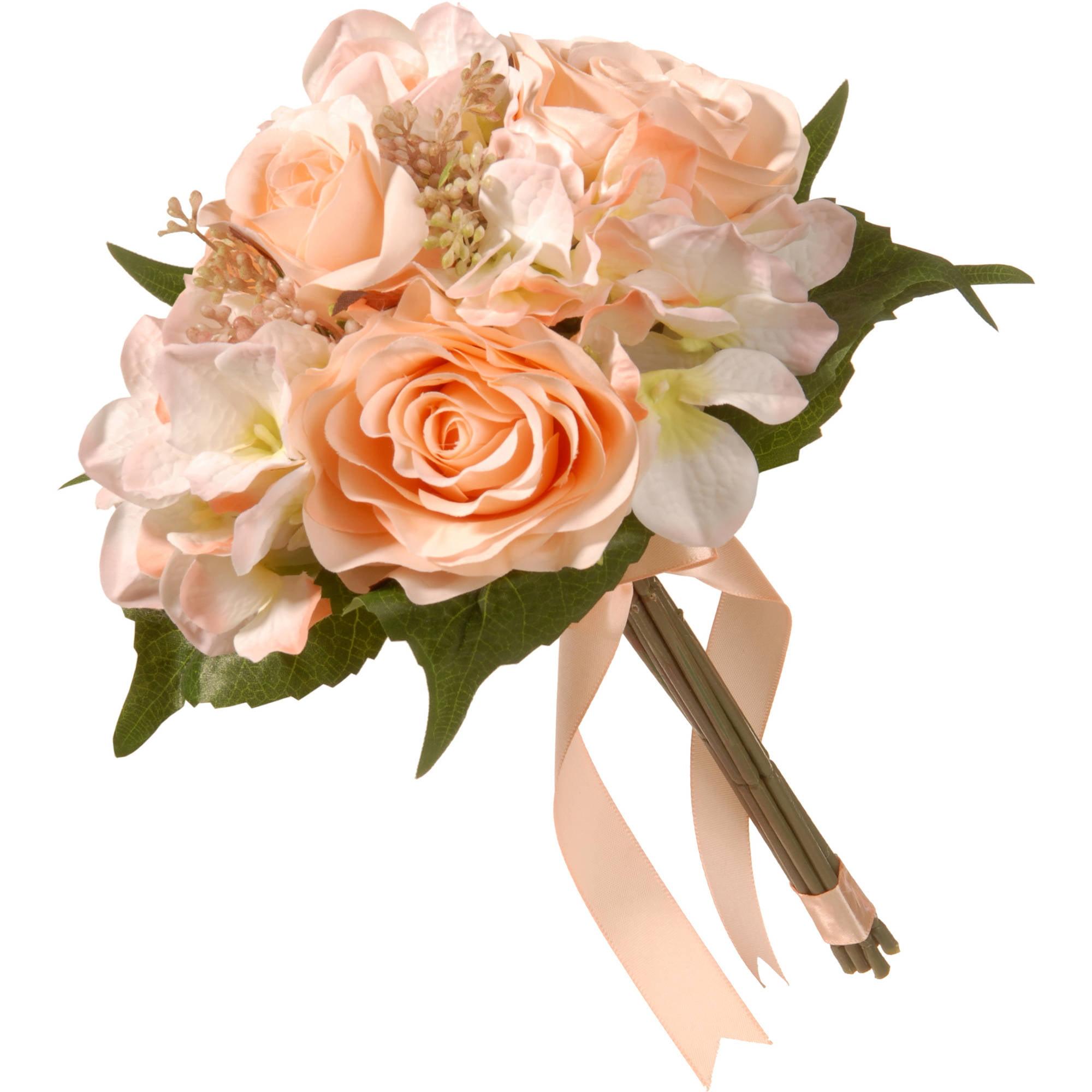 "12.2"" Peach Rose and Hydrangea Bundle"