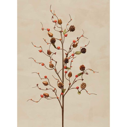 August Grove Acorn and Berry with Cones 36'' Desktop Foliage Tree (Set of 2)