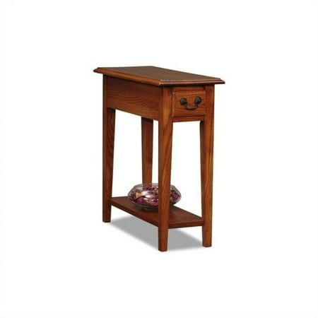 Bowery Hill Chairside End Table in Medium Oak (Solid Oak Table)