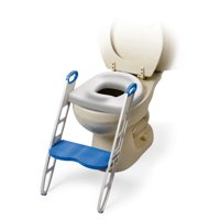 Mommy's Helper Padded Potty Seat with built in ladder non-slip step stool; Cushie Step Up Potty Seat