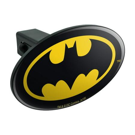 Batman Classic Bat Shield Logo Oval Tow Trailer Hitch Cover Plug Insert Logo Hitch Plug