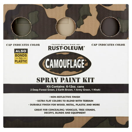 Camouflage Spray Paint (Rust-Oleum Camouflage Spray Paint Kit, 6-12 oz )