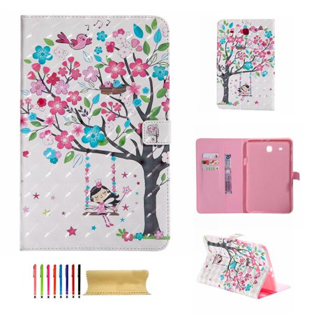 Graduation Money Tree (Galaxy Tab E 9.6 Case - Dteck Kickstand PU Leather Smart Cover with [Card/Money Holder] Flip Folio Wallet Case Cover for Samsung Galaxy Tab E/Tab E Nook 9.6-Inch Tablet)