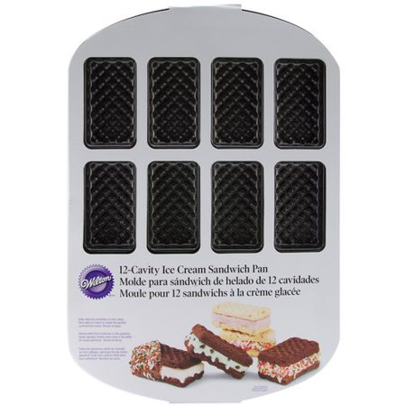 Ice Cream Cone Cupcake Pans (Wilton 12-Cavity Ice Cream Sandwich Pan)
