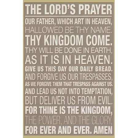 The Lord's Prayer Print Wall