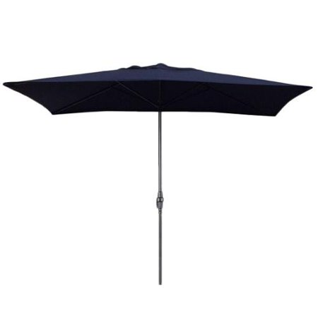 Escada designs navy blue 6x10 foot rectangular patio for Patio table umbrella 6 foot