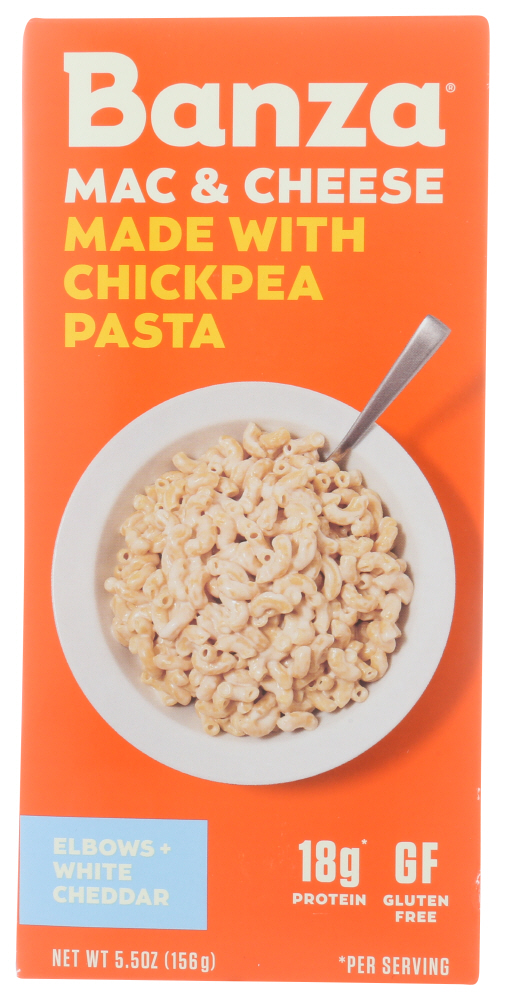Banza Chickpea Pasta White Cheddar Mac And Cheese 5 5 Oz Walmart Com Walmart Com