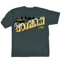 DC Comics Batman Greetings From Gotham City Mens Grey T-Shirt | XL