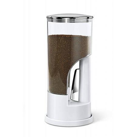 Honey Can Do Indispensable Dispenser Ground Coffee Dispenser, 1/2 lb, White
