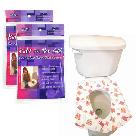 - 10 Disposable Kids Half Fold Paper Toilet Seat Covers Infant Potty Training Soft