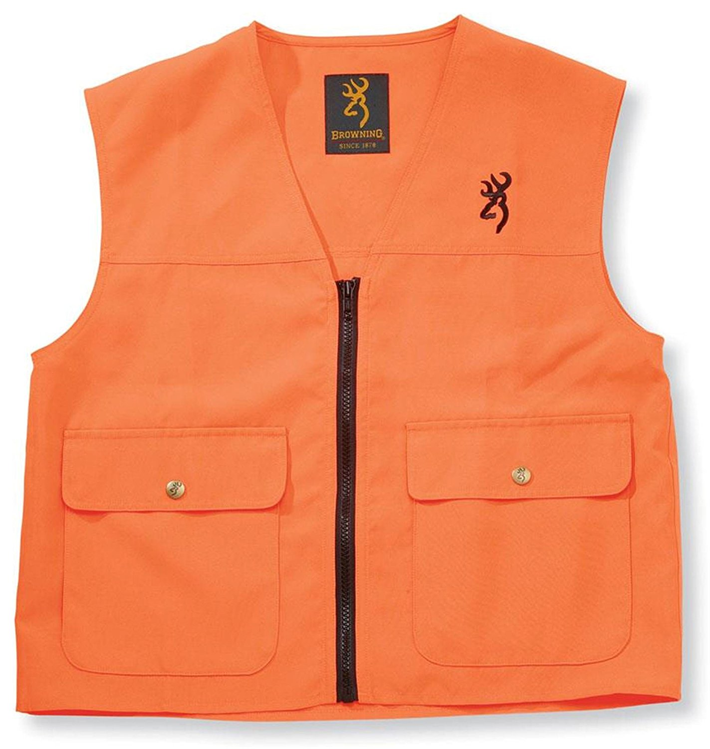 Junior Safety Vest, Blaze Large, Products designed in the USA with quality materials By Browning by