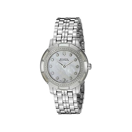 Accutron by Bulova Women's Pemberton Diamond Stainless Steel Mother of Pearl Dial