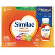 Similac Sensitive For Fussiness & Gas, Baby Formula, 24 Count Ready-to-Feed, 8-fl-oz Bottle