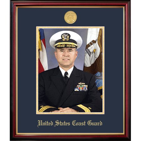 Coast Guard Photo Frame - Patriot Frame's Coast Guard 8x10 Portrait Petite Frame with Gold Medallion