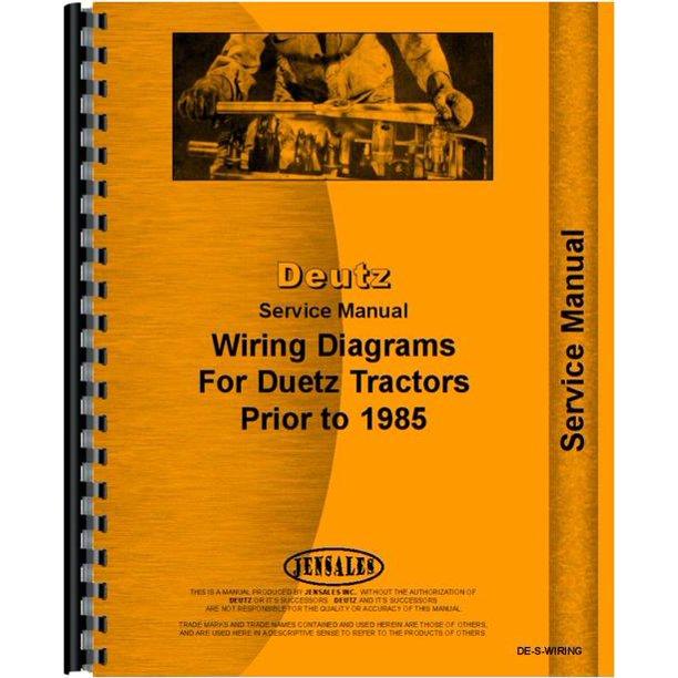 deutz allis d5006 tractor wiring diagram service manual