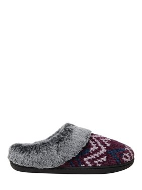 DF by Dearfoams Women's Chenille Clog Slippers