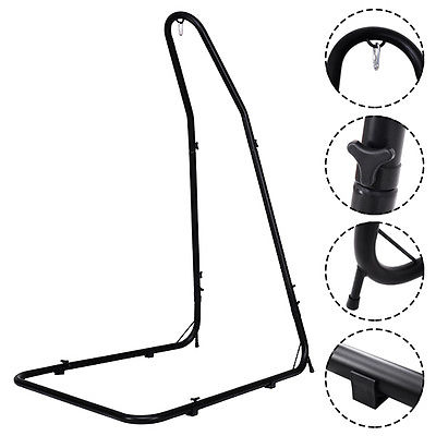 Best Choice Products Metal Hanging Hammock Chair C Stand For Hammock Air  Porch Swing Chair   Black   Walmart.com