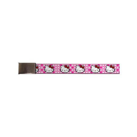 Hello Kitty Animated Character Pink Polka Dots Collage Web Belt -