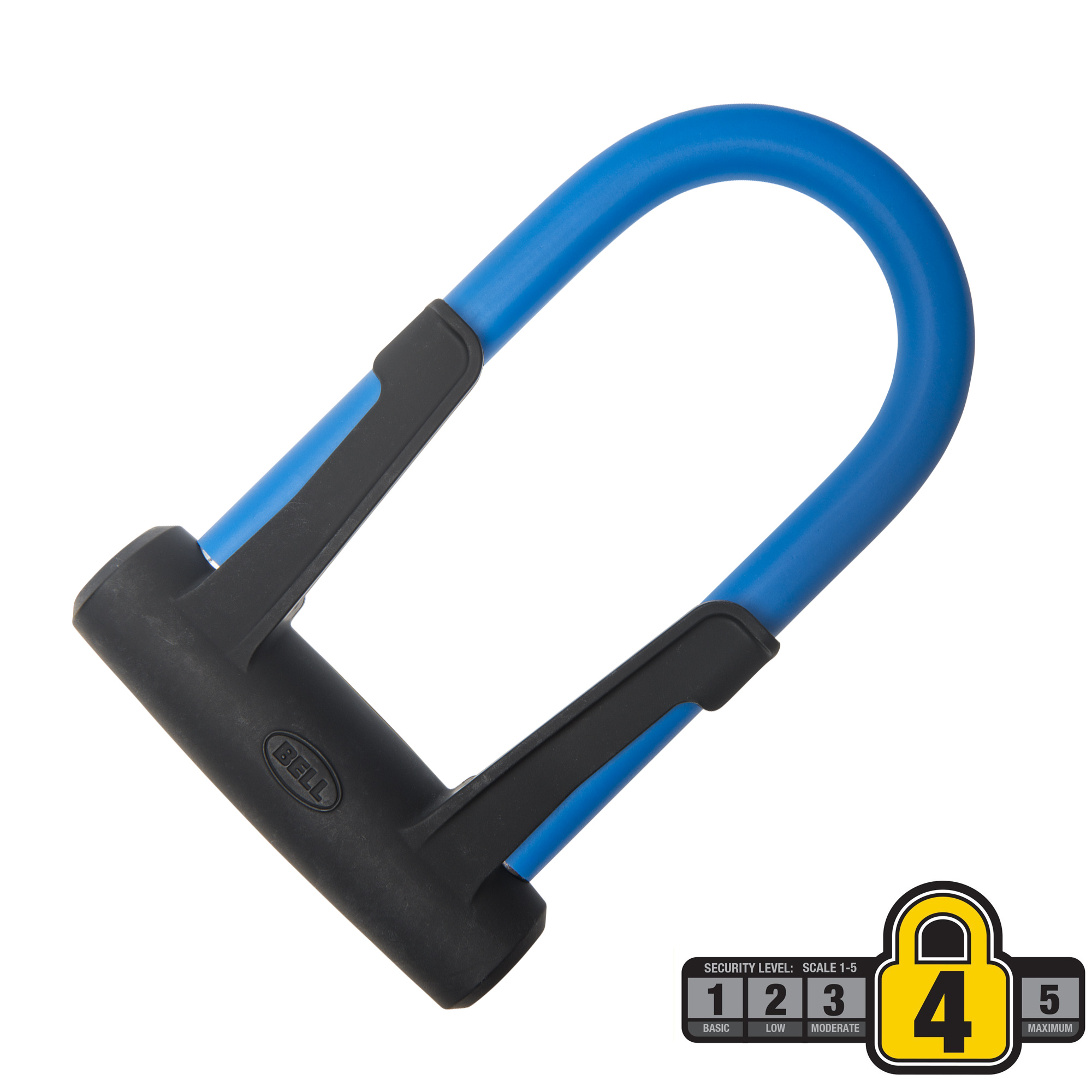 "Bell Sports CATALYST 400 9.5"" Clip-on U-Lock Bicycle Lock, Security Level 4,Black/Blue"