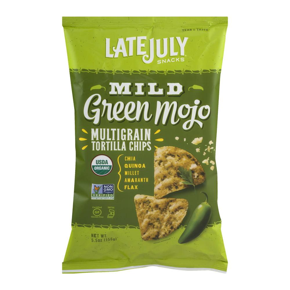 Late July Mild Green Mojo Multigrain Tortilla Chips, 5.5 OZ by Late July Snacks, LLC