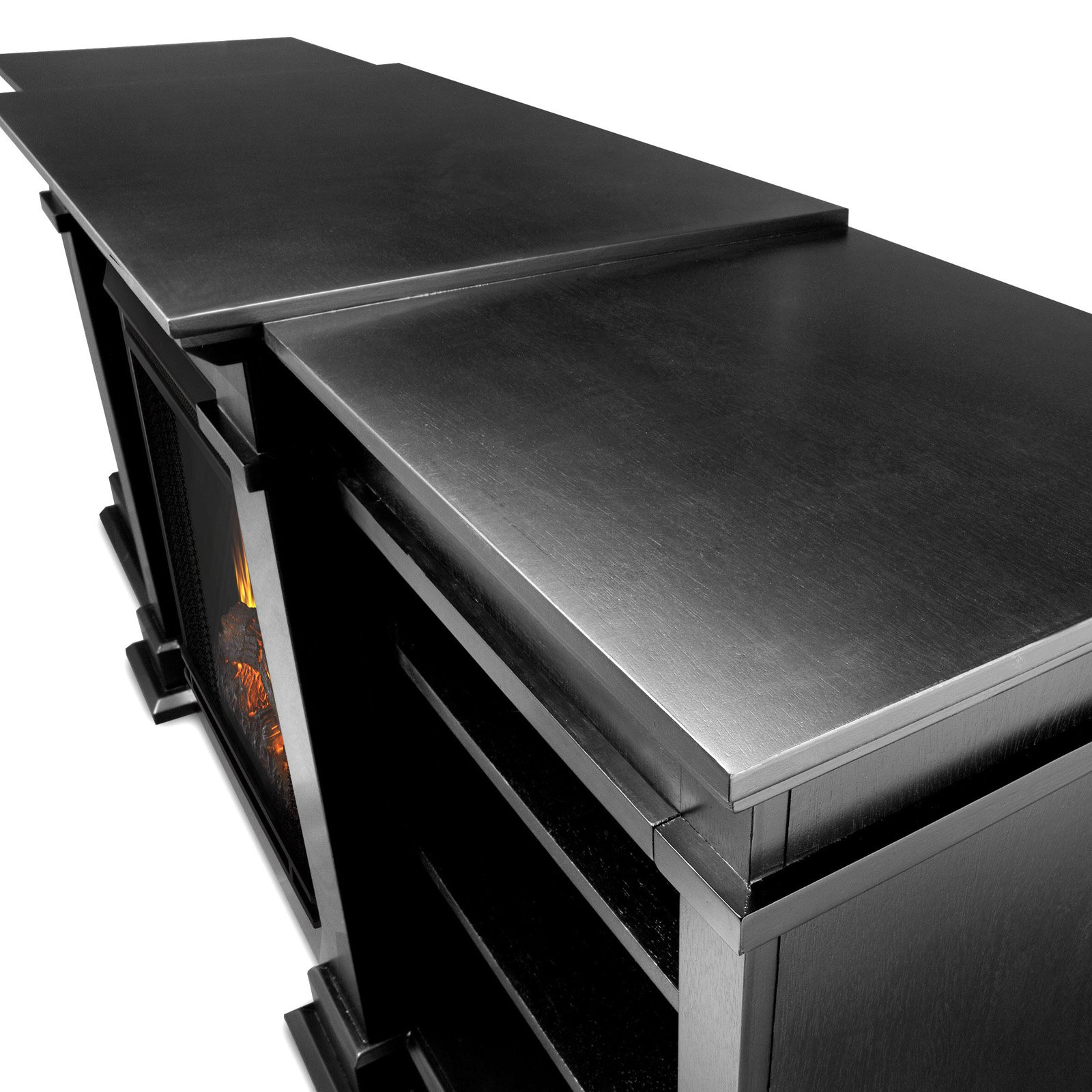 real flame fresno electric fireplace black walmart com