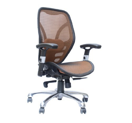 homcom deluxe mesh ergonomic seating office chair - orange