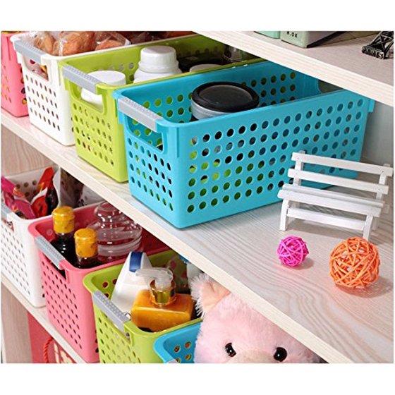 Magshion 6 Pack Stackable Storage Baskets Organizer Bins