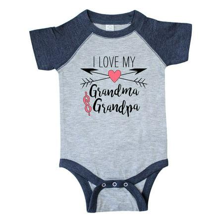 I Love my Grandma and Grandpa heart and arrows Infant Creeper - I Love My Bff