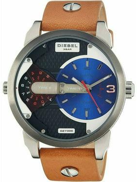 DIESEL DZ7308,Big Men's Sport Style,Quartz Movement,Stainless Steel Case,Leather Strap,WR