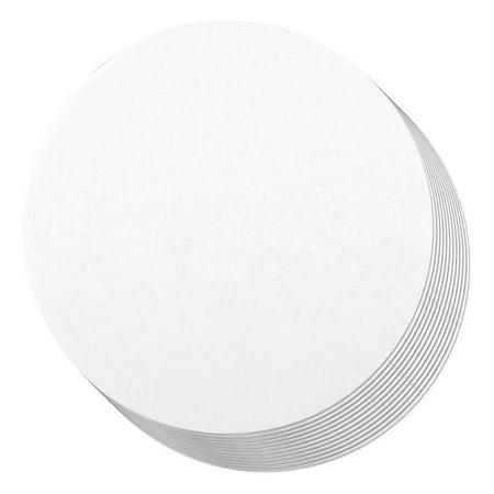 Cake Boards - 12-Piece Cardboard Round Cake Circle Base, 6 Inches Diameter, White White Foam Cake Circle