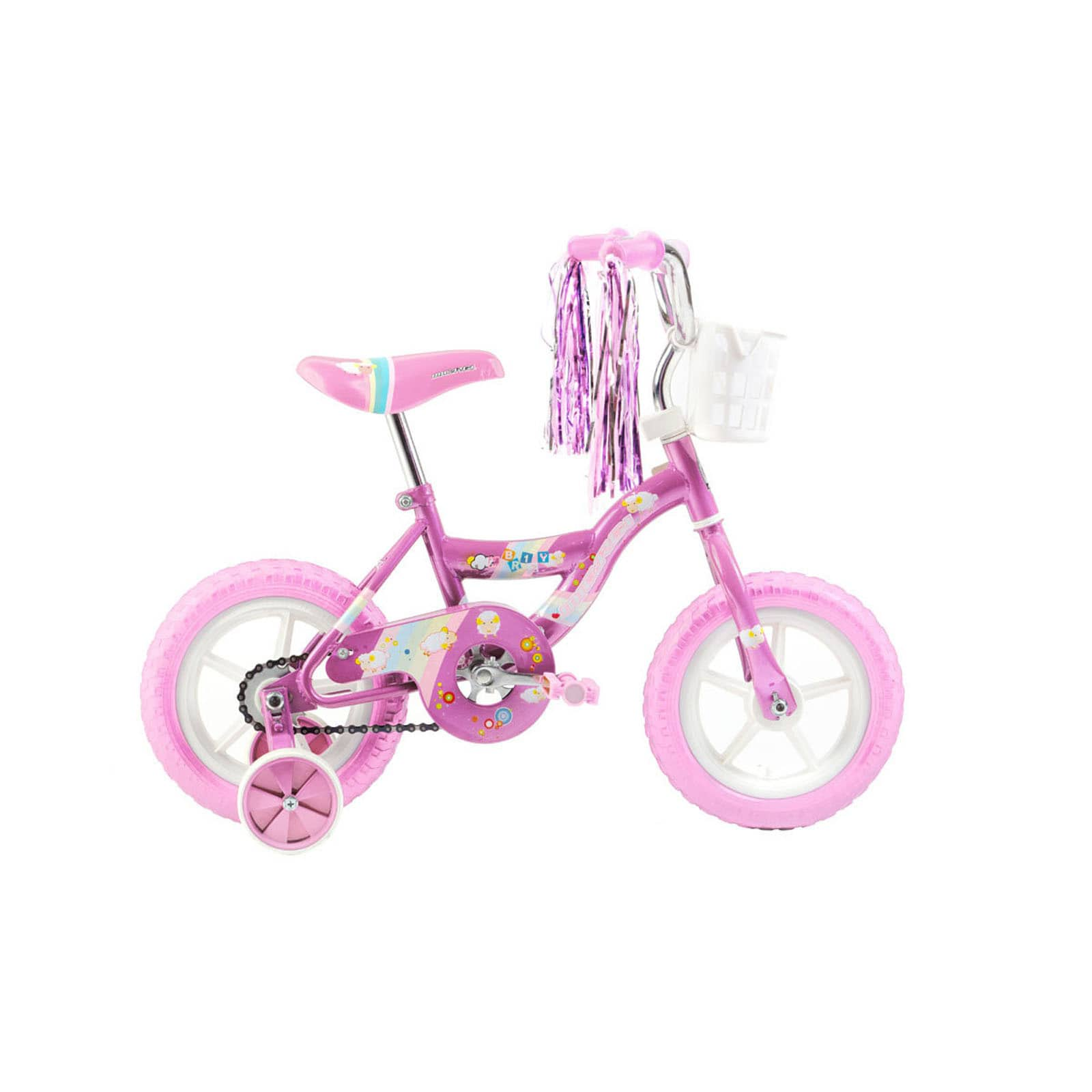MICARGI INDUSTRIES Micargi Kids Pink Girls 12-inch Bicycle with Training Wheels and Front... by Overstock