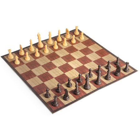 Travel Chess Set Game Compact Folding Board For Portable (Best Travel Games For Toddlers)