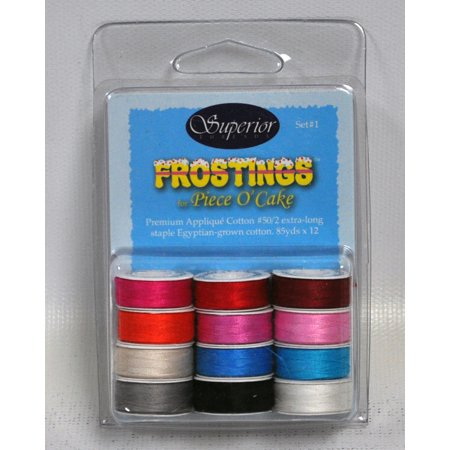 Frostings Prewound Bobbins Masterpiece Thread Set 1 L Style 12ct