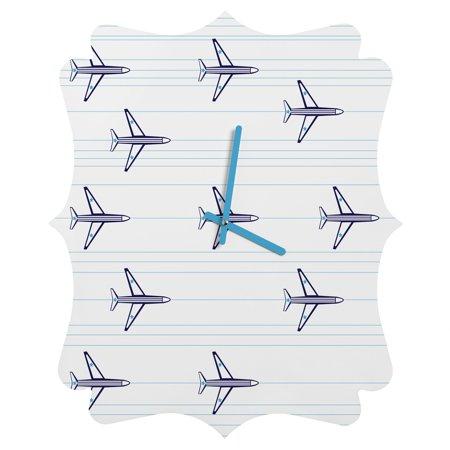 Deny Designs Vy La, airplanes and Stripes, Quatrefoil Clock,
