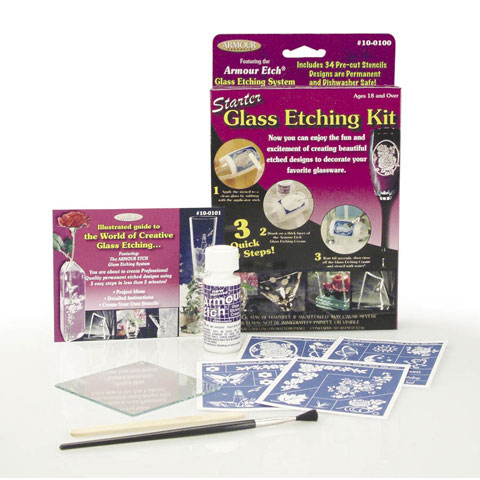 Starter Glass Etching Kit - 39 pieces