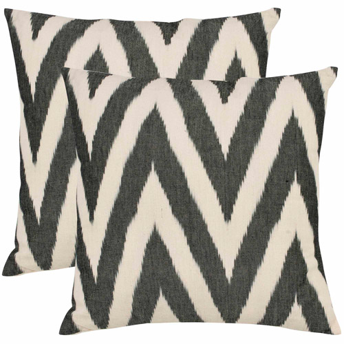 Safavieh Charcoal Pillow, Set of 2