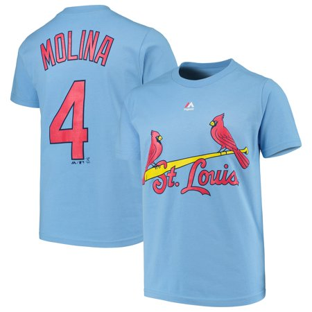 Yadier Molina St. Louis Cardinals Majestic Youth Player Name & Number T-Shirt - Light Blue
