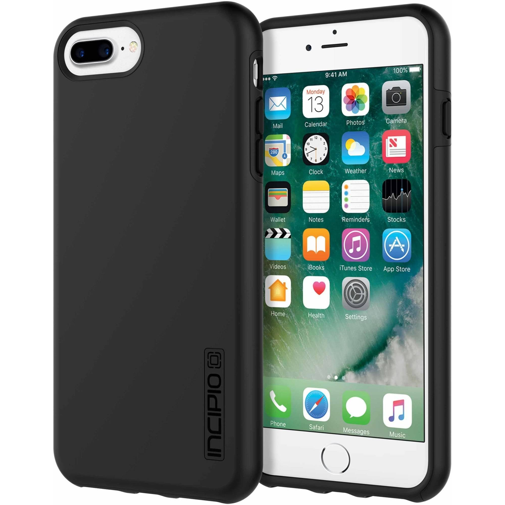 Incipio DualPro Case for Apple iPhone 6 Plus, iPhone 6S Plus, and iPhone 7 Plus, Black