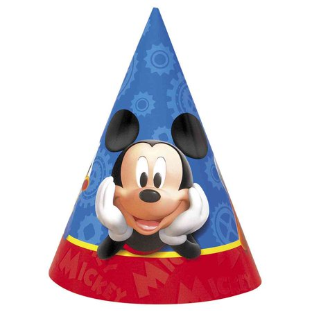 Mickey Mouse Clubhouse Party Hats [8 per Package] - Mickey Mouse Cut Out