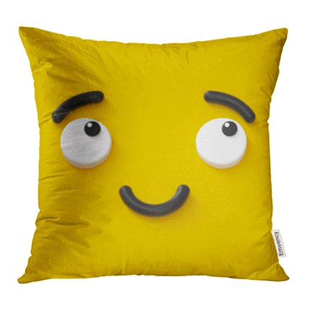 Kissy Face Emoticon (YWOTA 3D Render Cute Emotional Cartoon Face Shy Smiley Kid Adorable Smile Dreamer Emoticon Pillow Cases Cushion Cover 18x18)