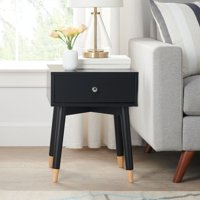 Mainstays Single Drawer End Table, Multiple Colors