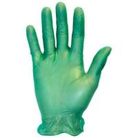Safety Zone GVDG Green Vinyl Exam Gloves, Medium, 6 MIL, 100/BX